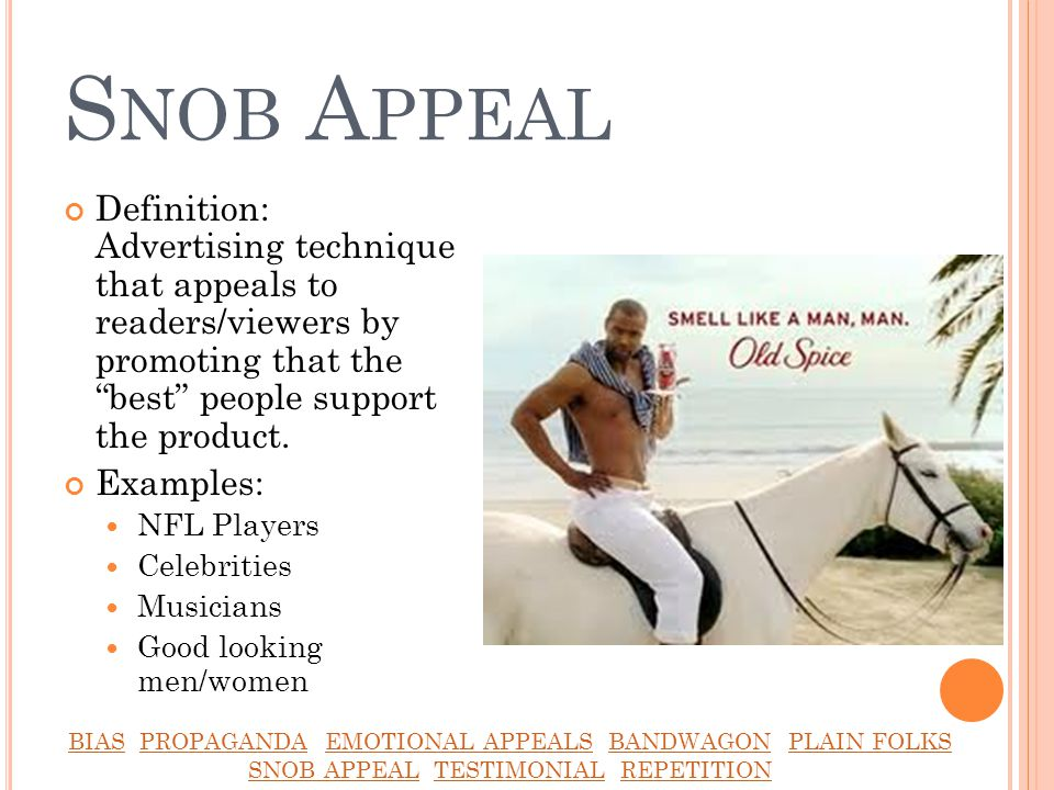 Examples of Different Advertising Appeals