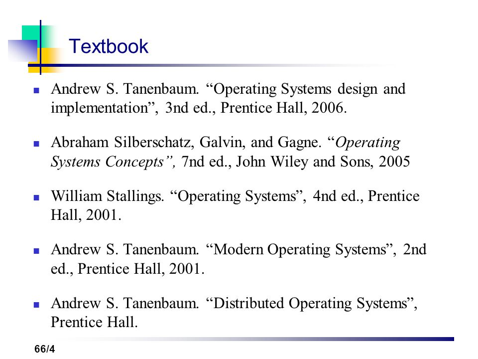 Advanced operating systems ppt video online download 4 textbook andrew s tanenbaum operating systems design fandeluxe Image collections