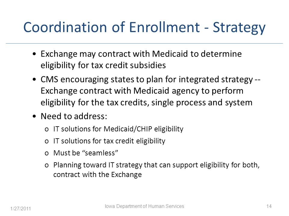 Coordination of Enrollment - Strategy