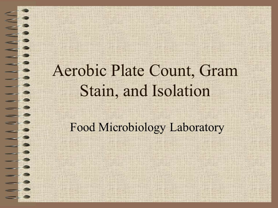 Aerobic Plate Count, Gram Stain, and Isolation