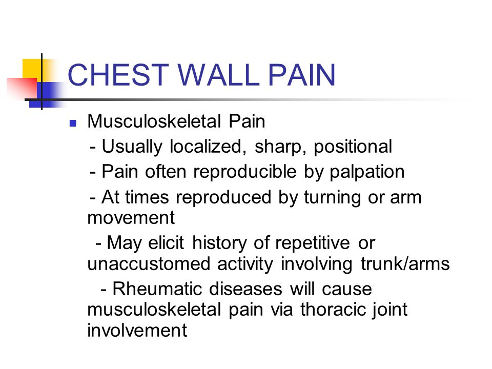 Chest Pain Ppt Video Online Download