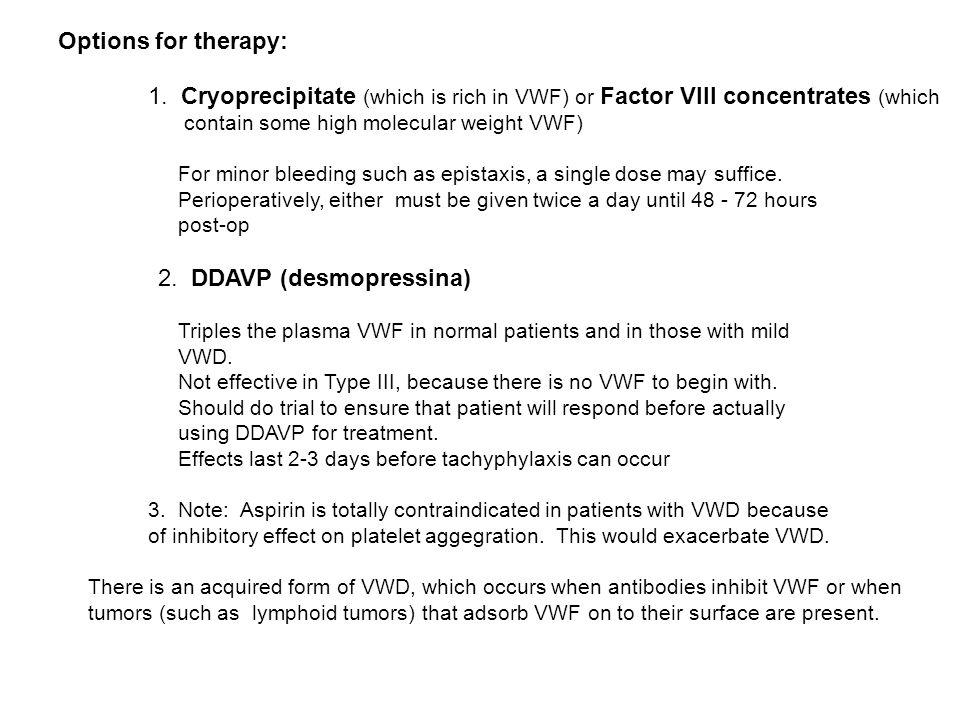 2. DDAVP (desmopressina)