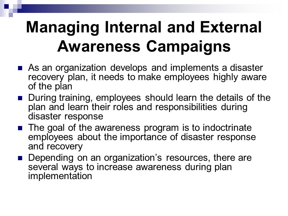 the importance of a disaster plan in an organization What is the importance of planning in management, organization and business planning is of paramount importance both for an organisation and an economy sound plans.