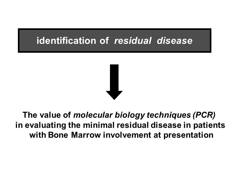 identification of residual disease