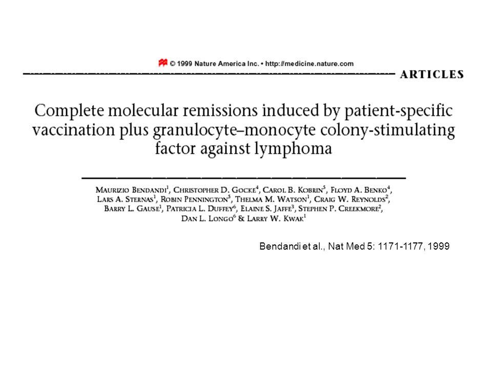 Bendandi et al., Nat Med 5: 1171-1177, 1999