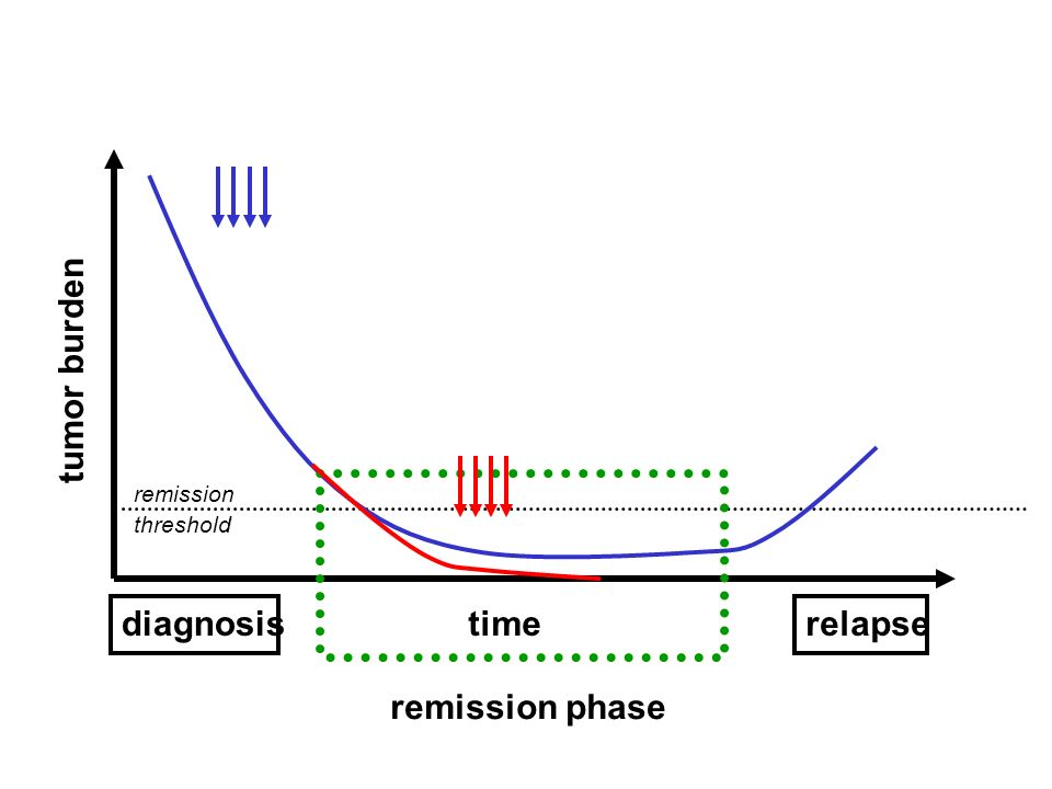 tumor burden remission phase time diagnosis relapse remission