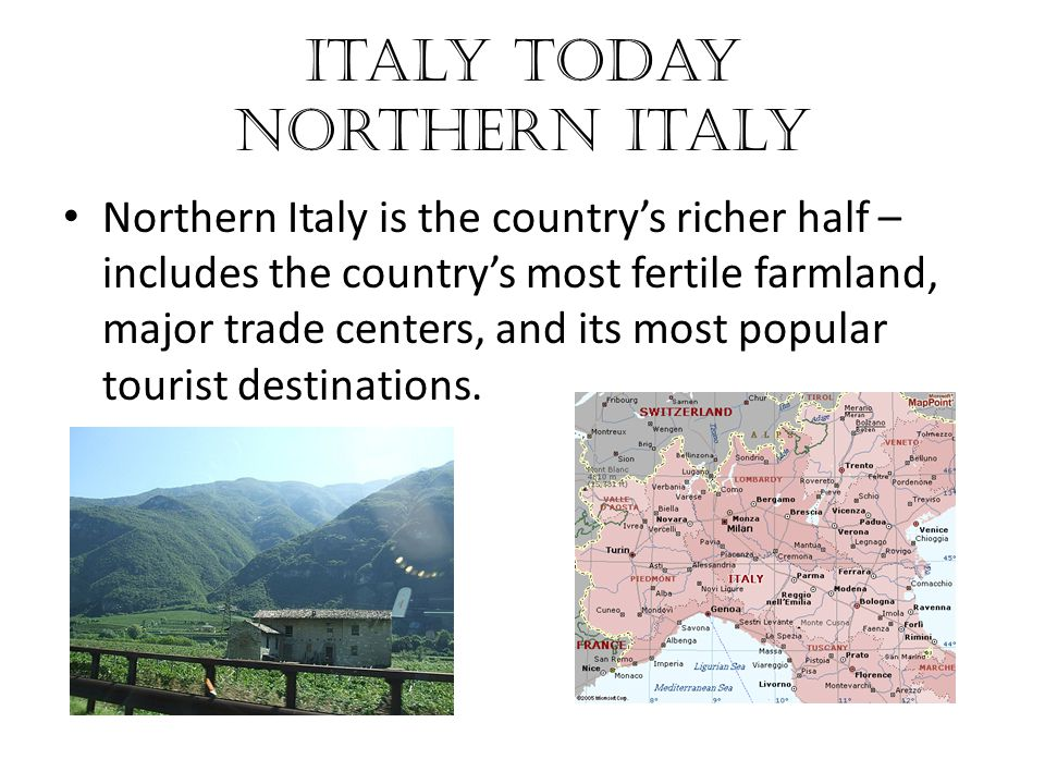 Italy Today Northern Italy