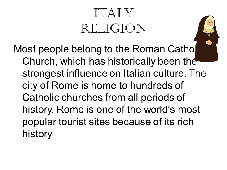 Italy Ppt Video Online Download - Strongest religion in the world