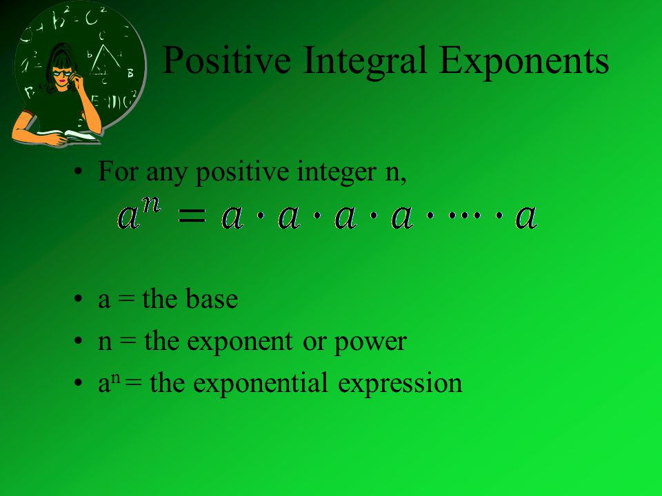 Positive Integral Exponents