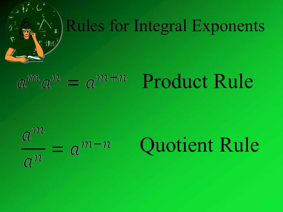 Rules for Integral Exponents