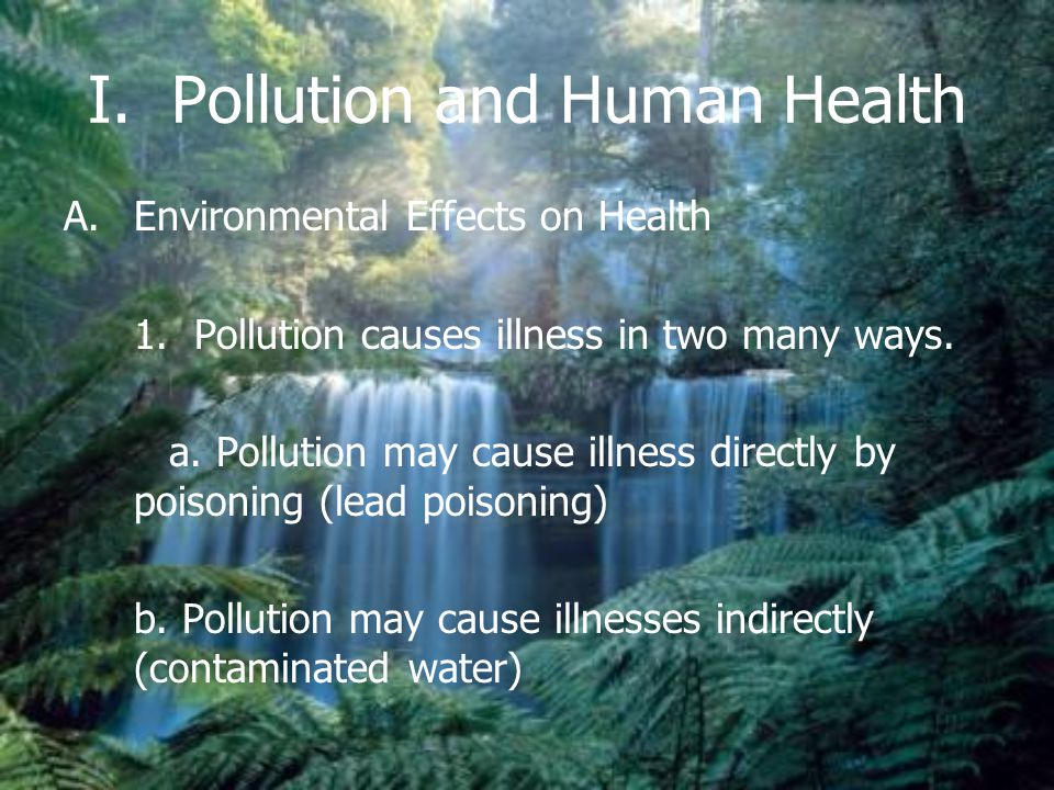 I. Pollution and Human Health