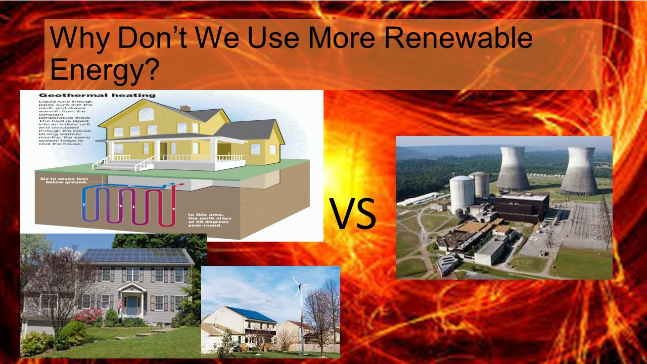 Why Don't We Use More Renewable Energy