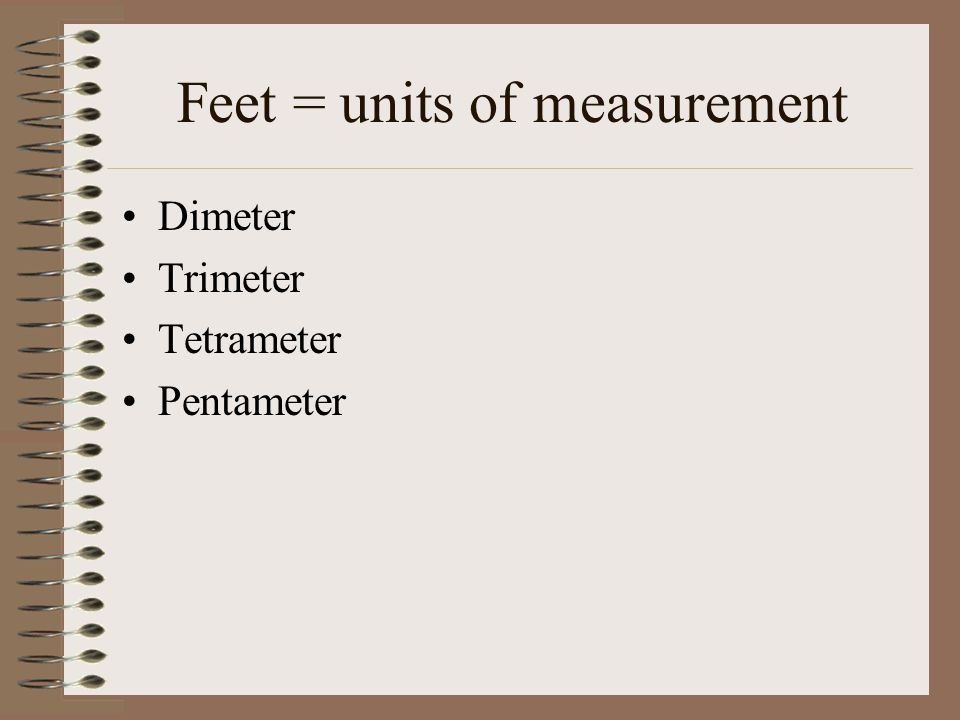 Feet = units of measurement