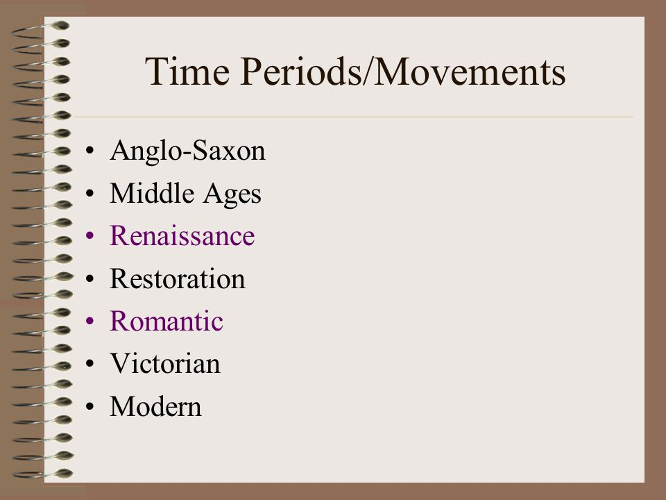 Time Periods/Movements