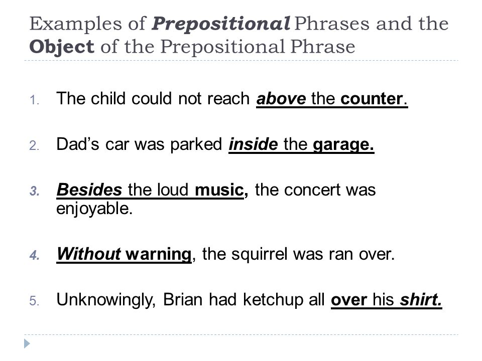 Prepositional Phrase Exle 28 Images Prepositional Phrase 100