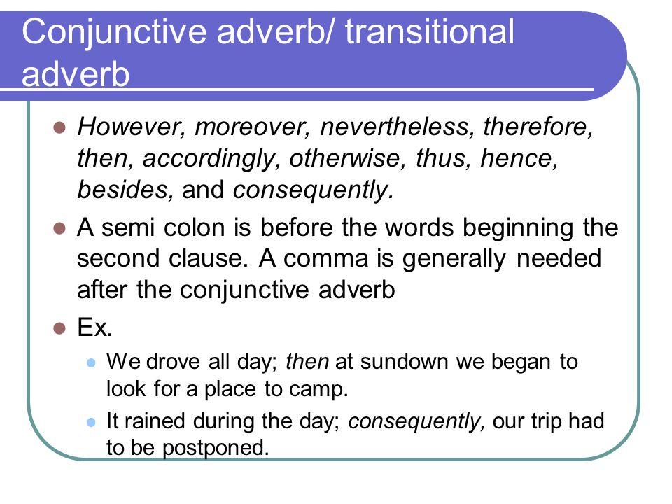 Conjunctive adverbs worksheet middle school
