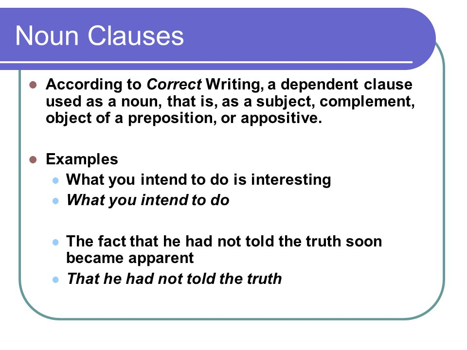 Noun Clause Free Worksheets Library Download And Print