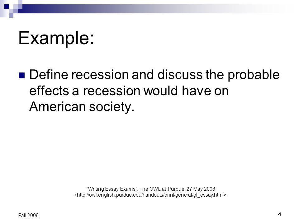 writing cause and effect essays ppt video online  example define recession and discuss the probable effects a recession would have on american society 5 essay characteristics
