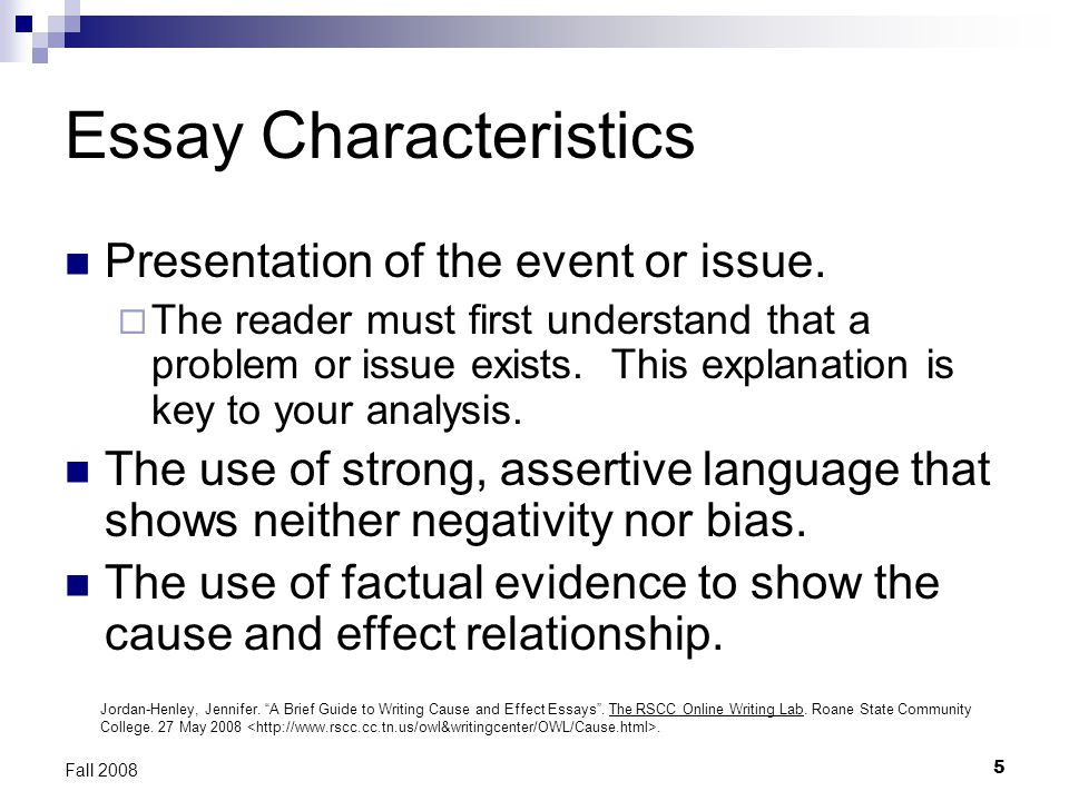 writing cause and effect essays ppt video online  essay characteristics