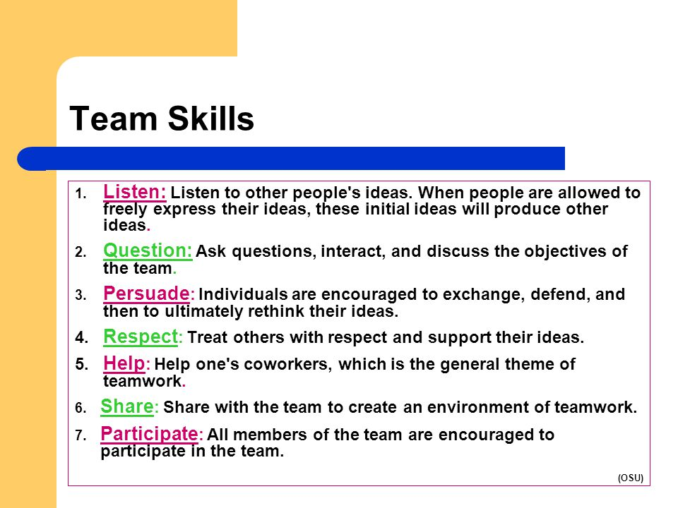 teamwork questions