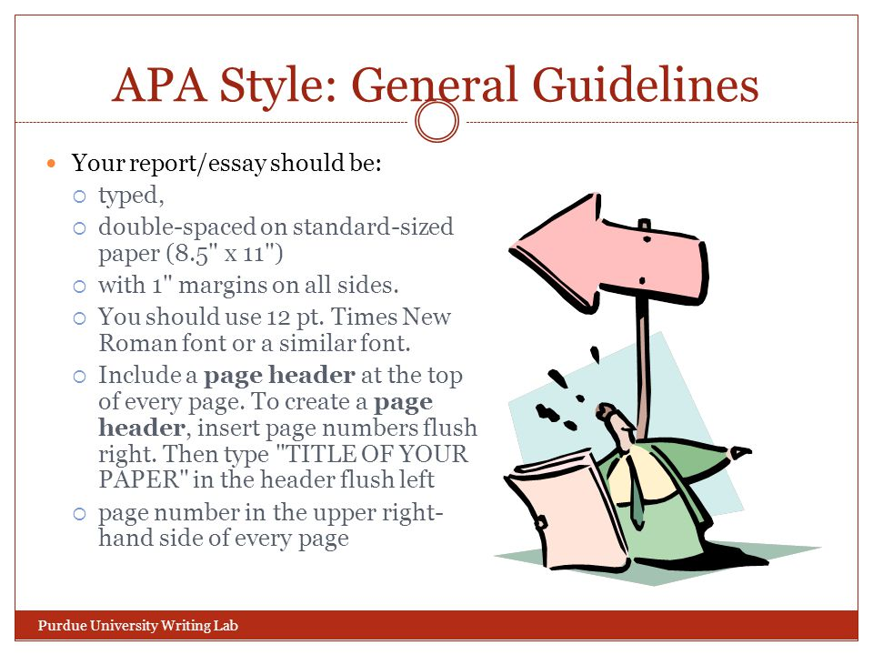 APA Style: General Guidelines