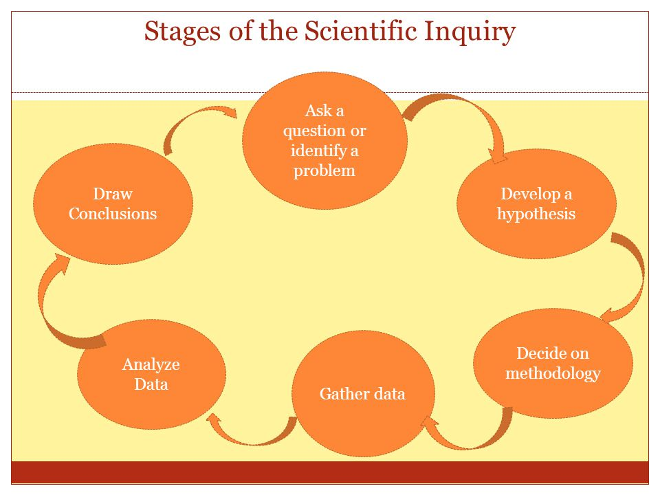 Stages of the Scientific Inquiry