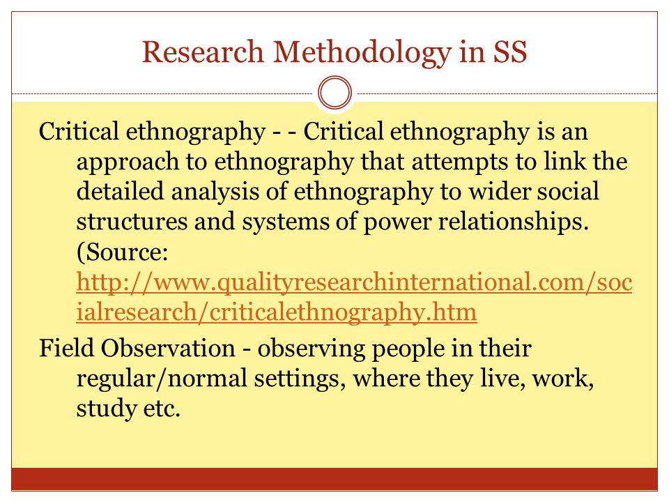 Research Methodology in SS