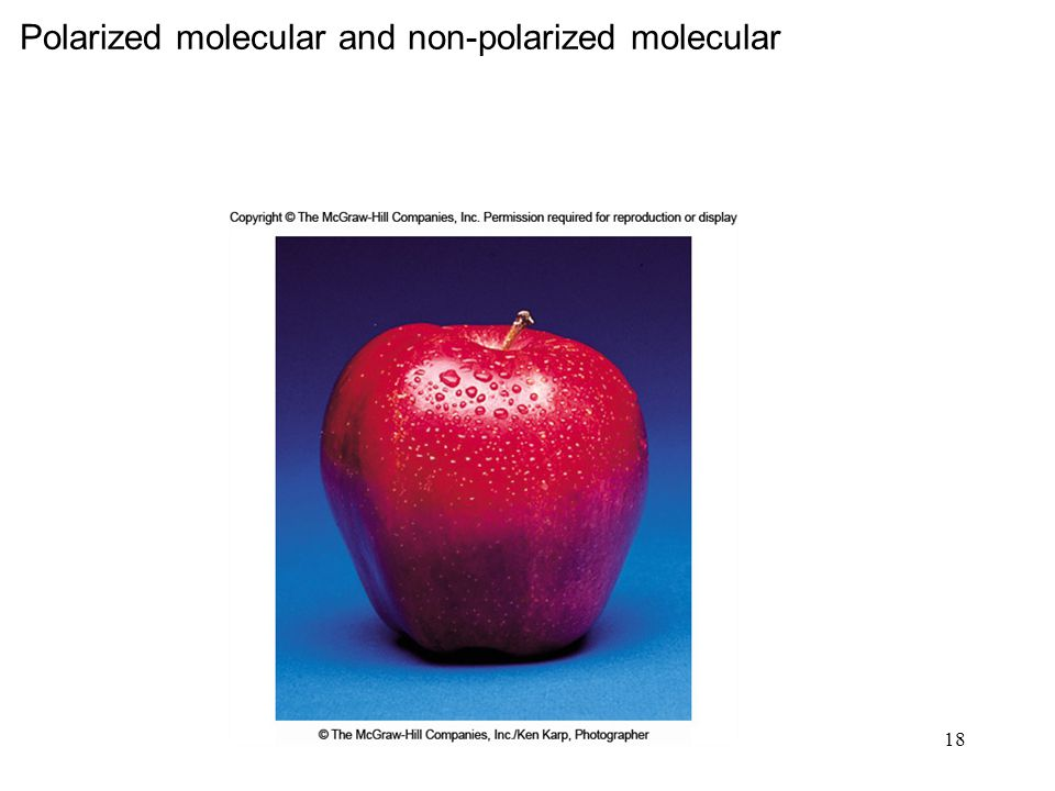 Polarized molecular and non-polarized molecular