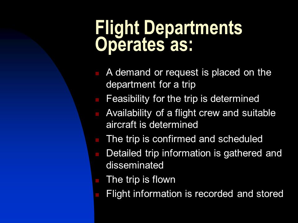 Flight Departments Operates as: