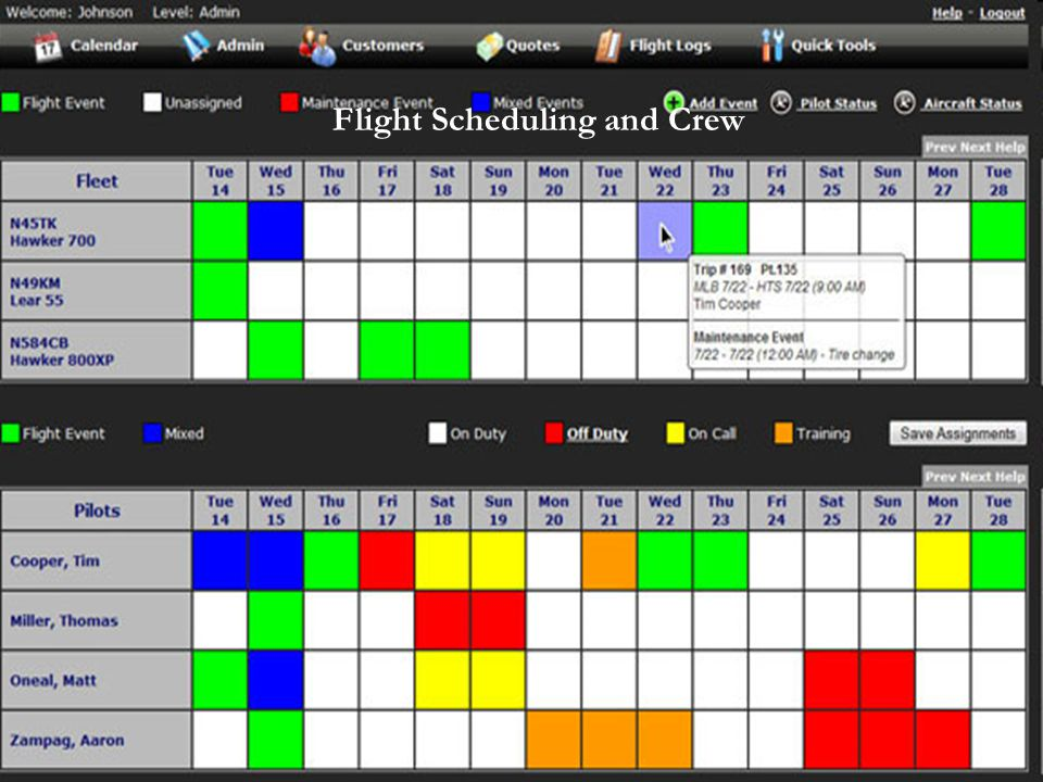 Flight Scheduling and Crew