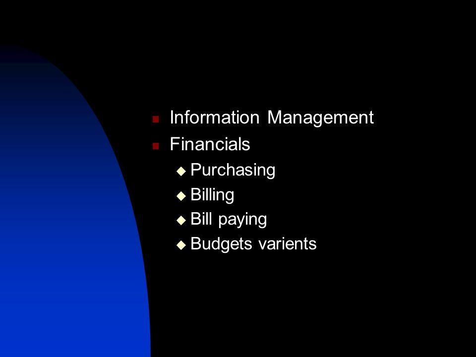 Information Management Financials