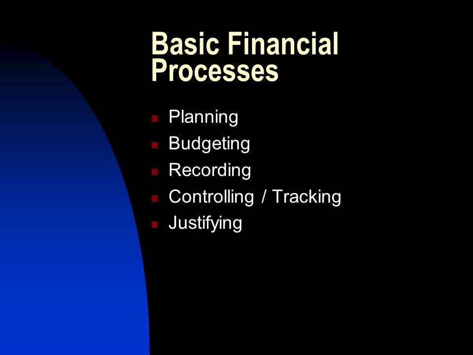 Basic Financial Processes