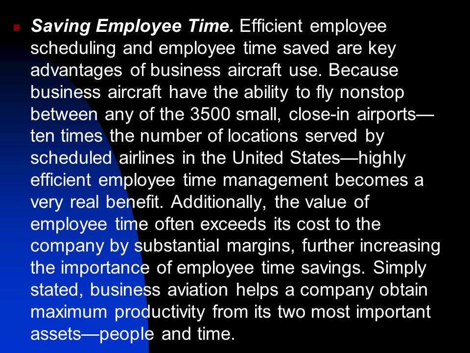 Saving Employee Time.