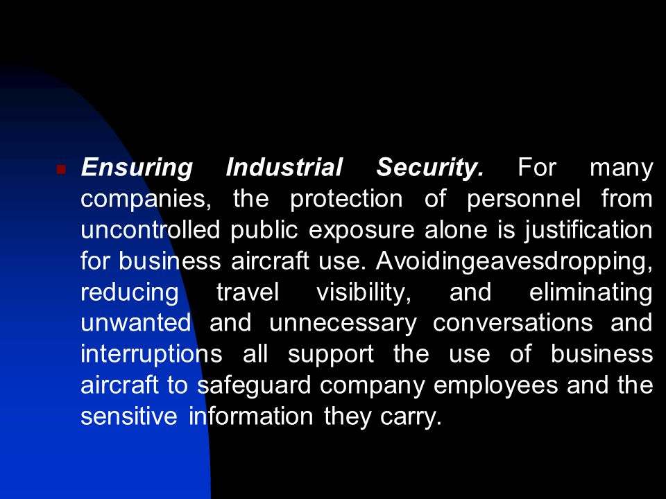 Ensuring Industrial Security