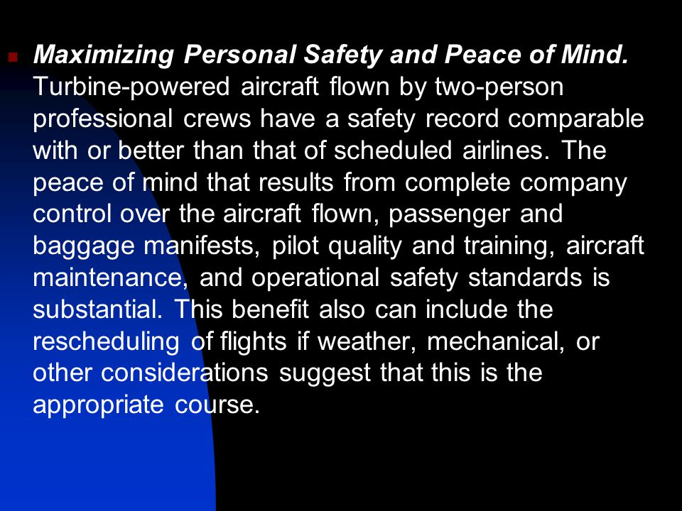 Maximizing Personal Safety and Peace of Mind