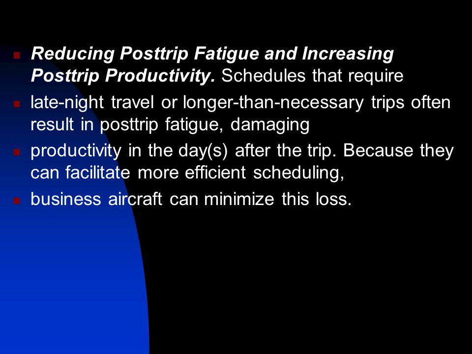 Reducing Posttrip Fatigue and Increasing Posttrip Productivity