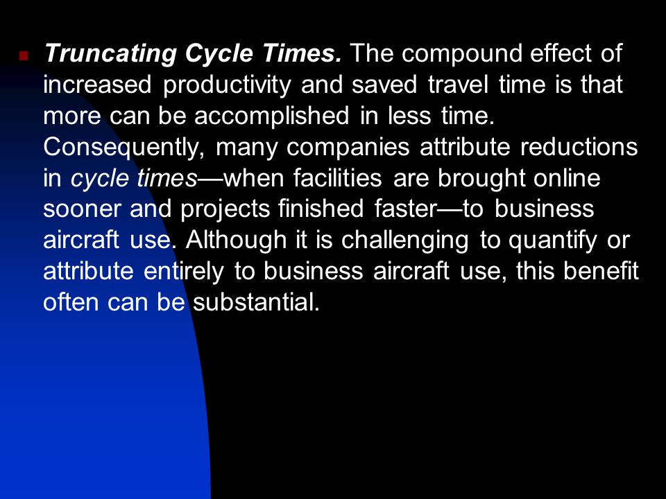 Truncating Cycle Times