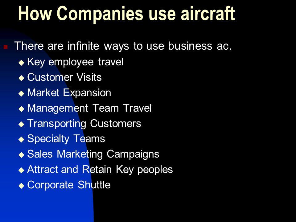 How Companies use aircraft