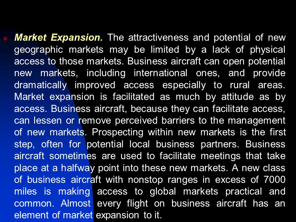 Market Expansion.