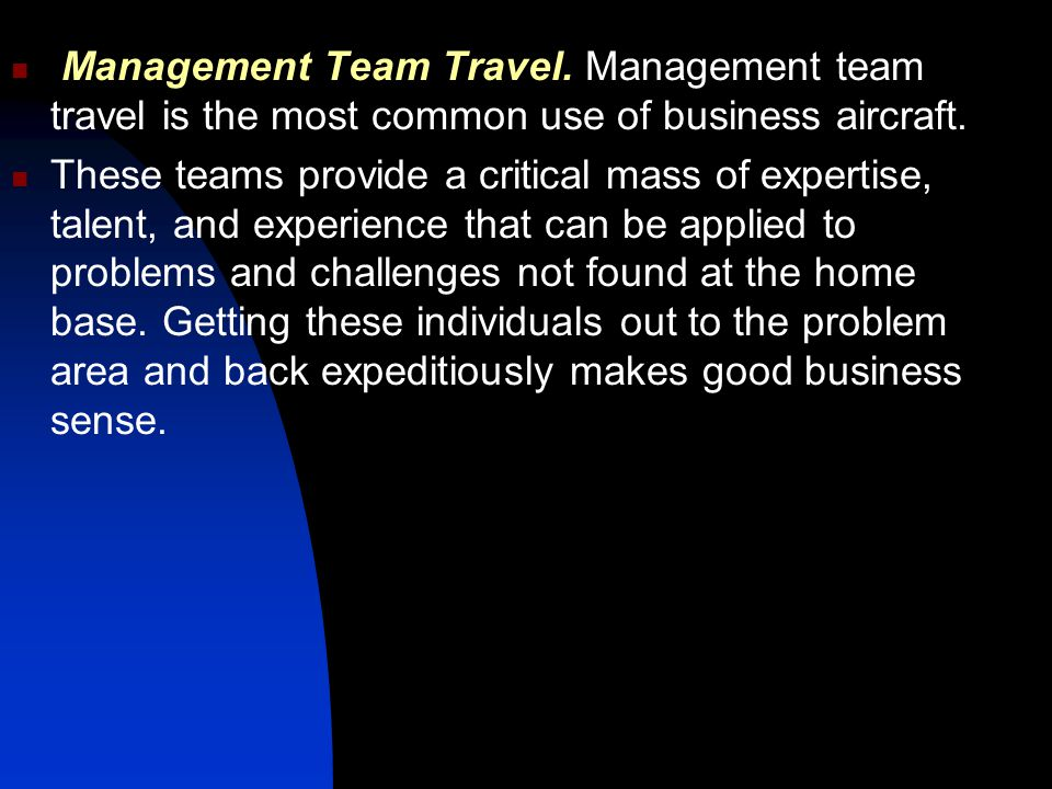Management Team Travel