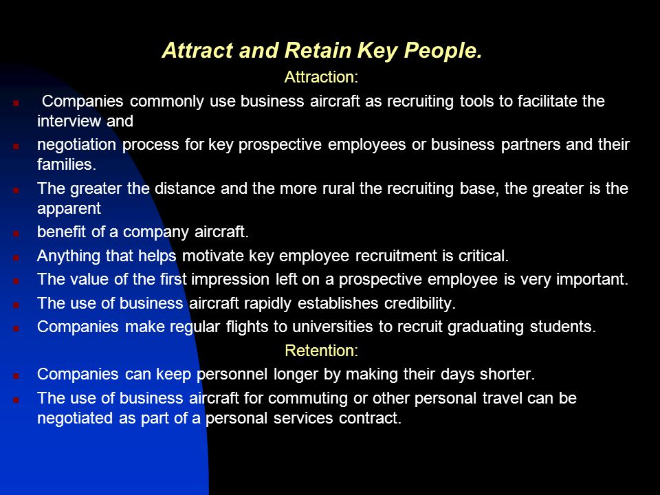 Attract and Retain Key People.