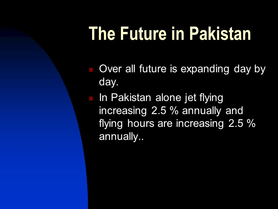 The Future in Pakistan Over all future is expanding day by day.
