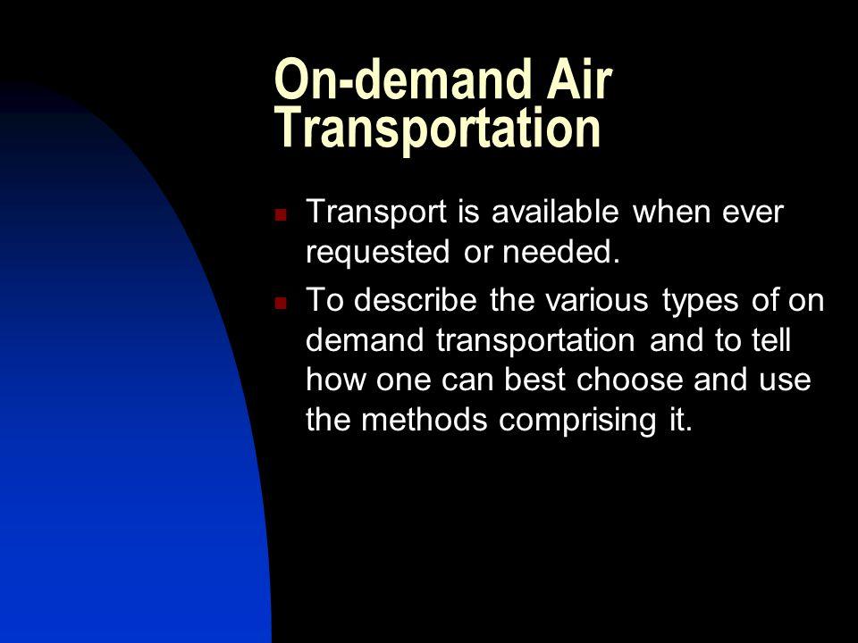 On-demand Air Transportation