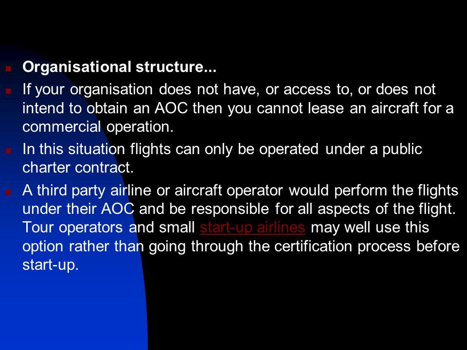 Organisational structure...