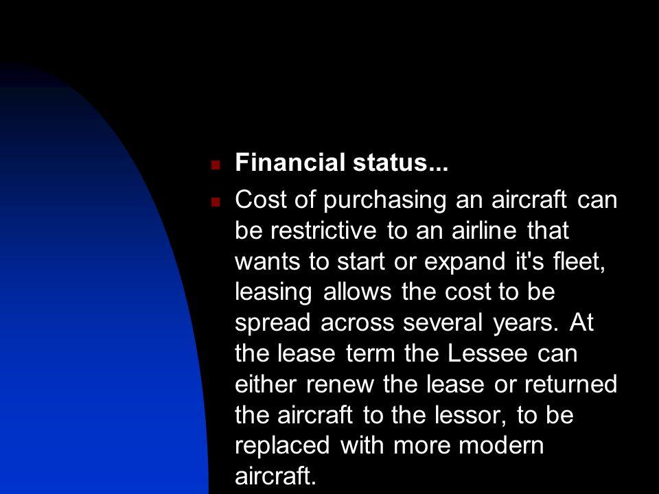 Financial status...