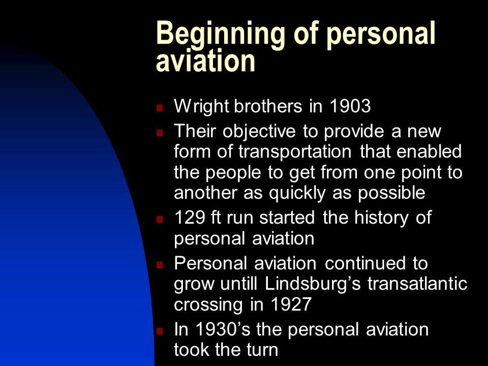 Beginning of personal aviation