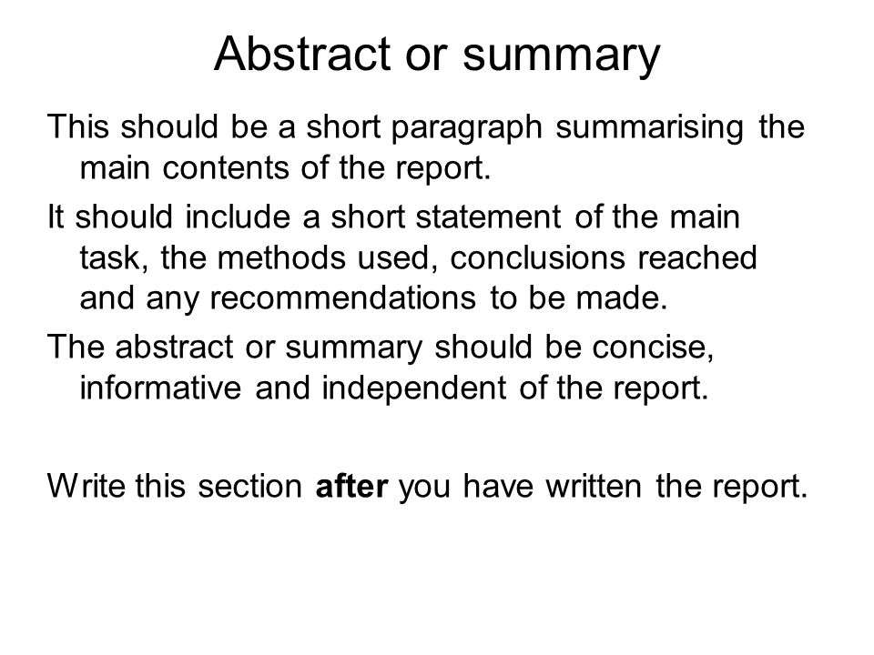 writing reports ian mccrum material from ppt