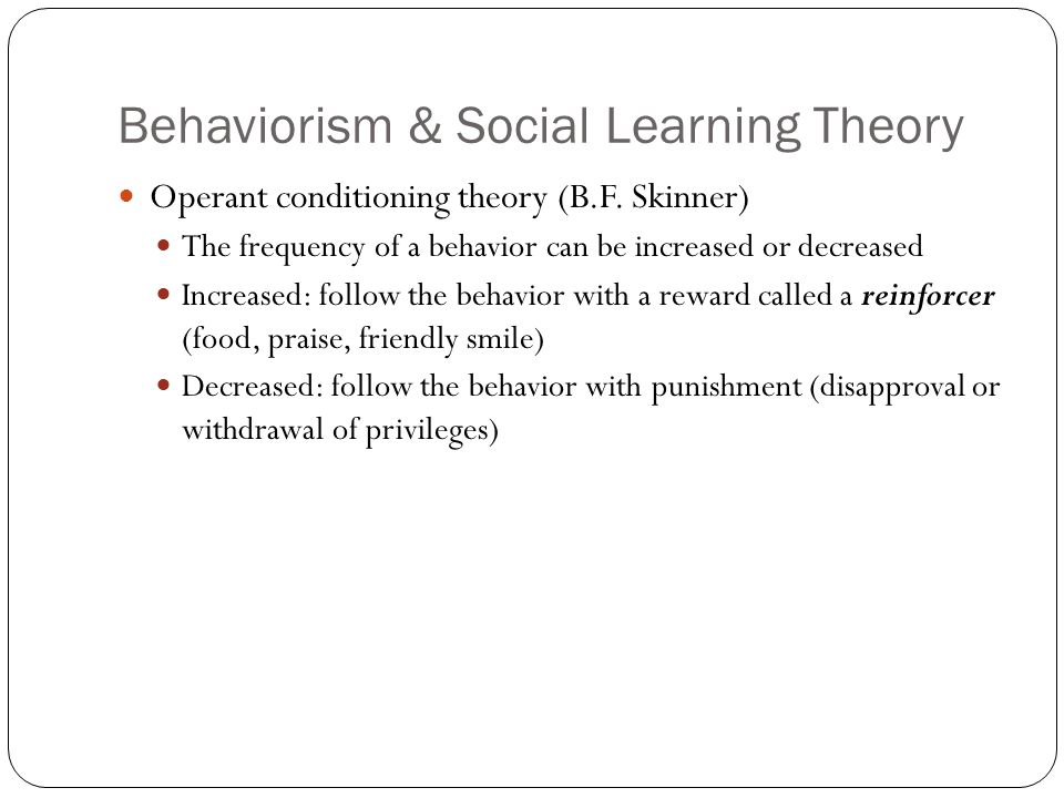 Behaviorism Essays & Research Papers