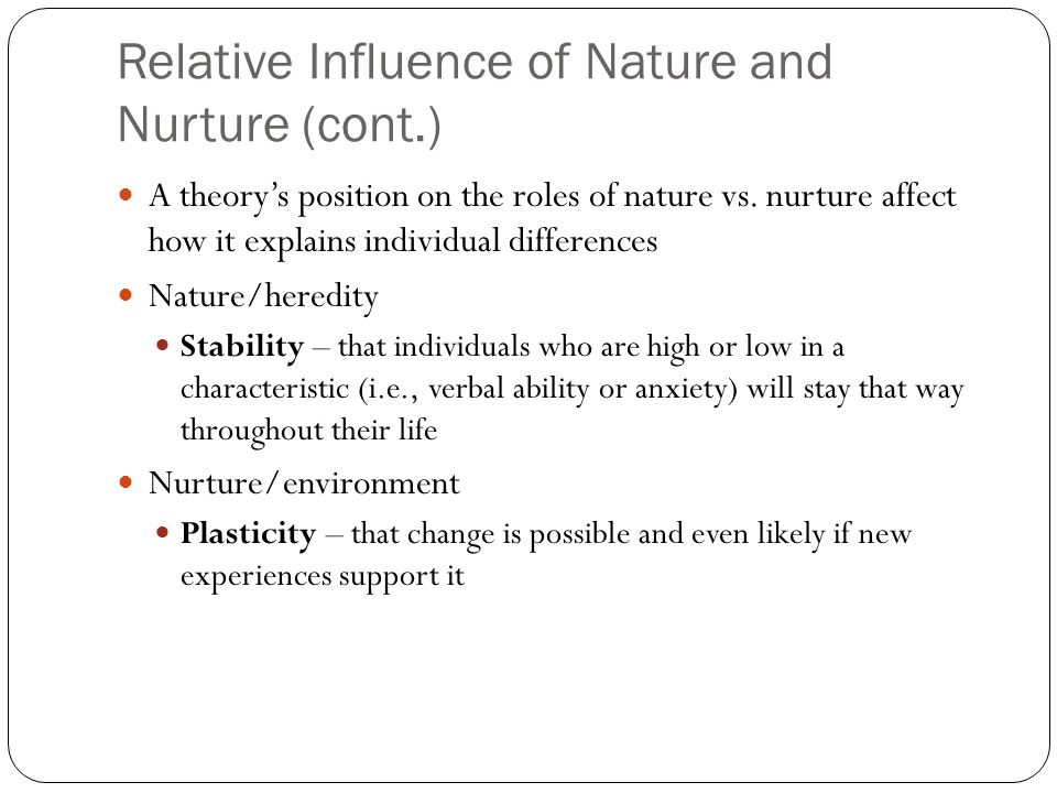 nature of individual differences found in The nature and importance of individual differences in perception authors h a witkin brooklyn college search for more papers by this author.