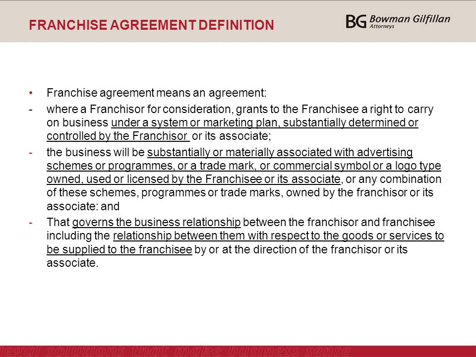 Marketing Franchise Agreement  Best Market